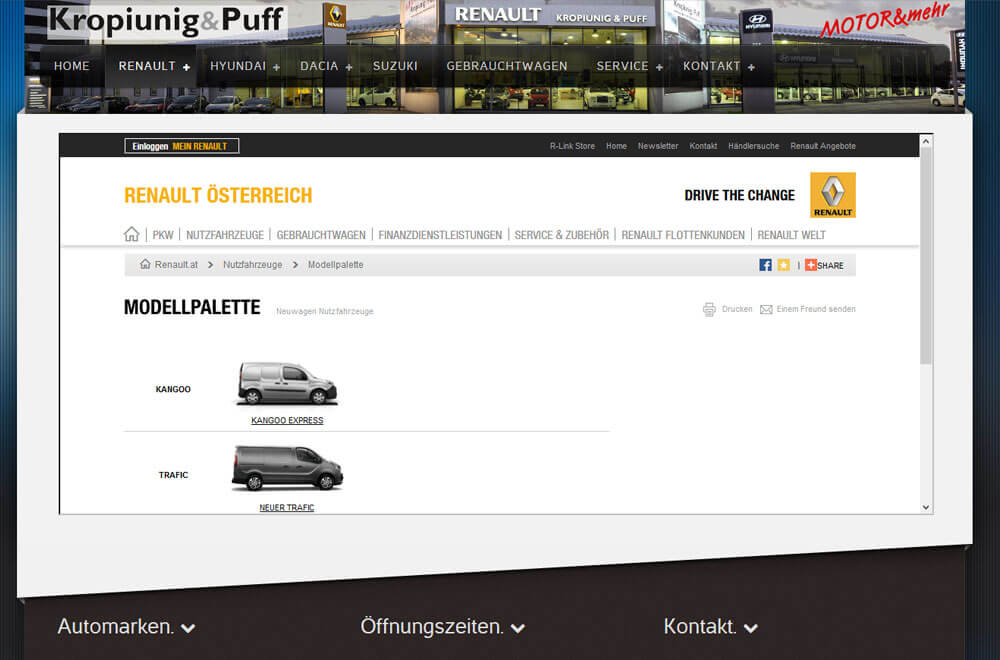 Webseite Auto Motor Welt