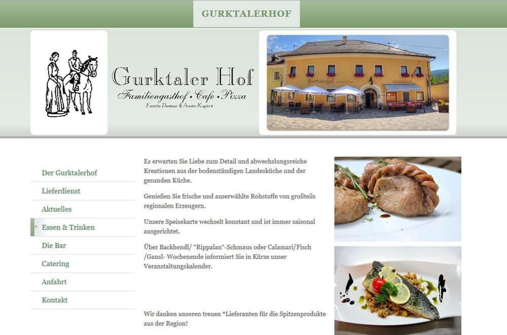 Webseite Gasthof Gurktaler Hof