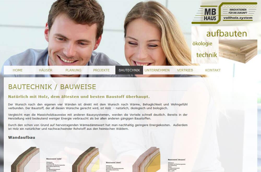 Webseite MB HolzMassivhaus