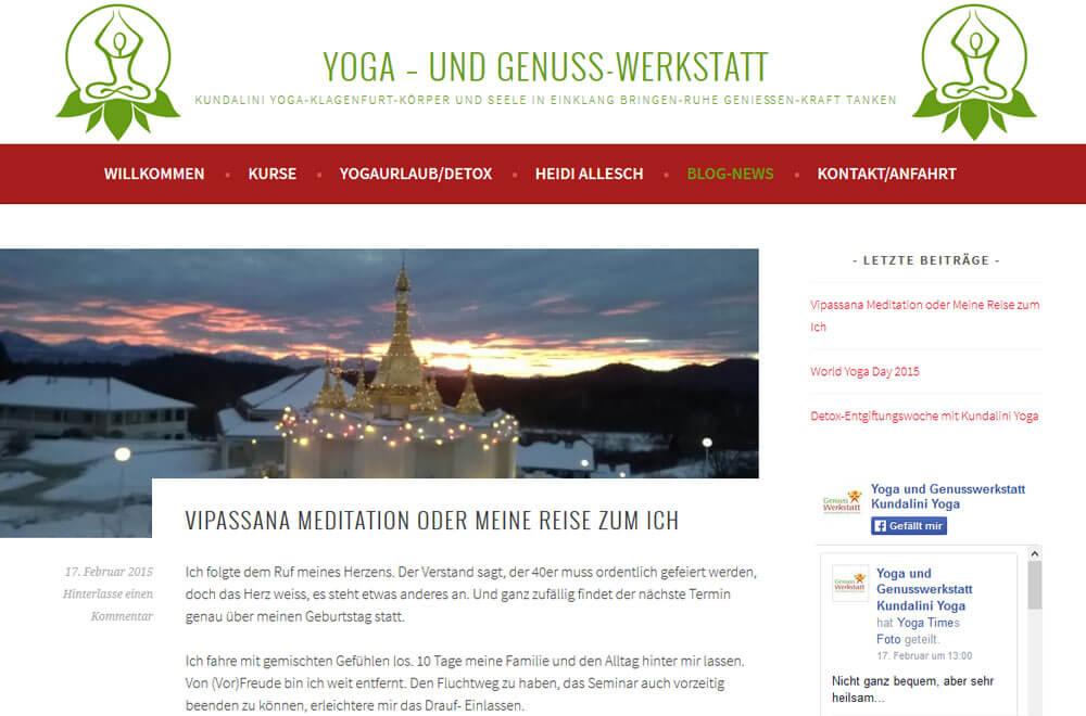 Webseite Kundalini Yoga