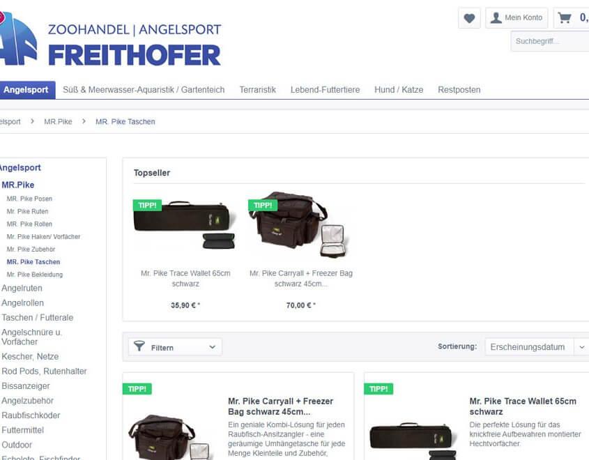shop Zoohandel & Angelsport Freithofer